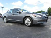 Gray 2012 Honda Accord LX 2.4 FWD 5-Speed Automatic