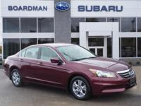 New Price! Basque Red Pearl II 2012 Honda Accord LX-P