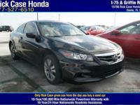 2012 Honda Accord LX-S  in Black. Quietness comes