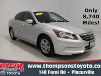 Come see this nicely equipped 2012 Honda Accord Sdn
