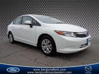 2012 Honda Civic LX sedan . This car looks great and is