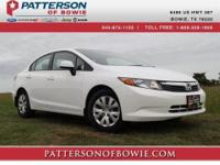 Stunning! This outstanding 2012 Honda Civic LX is the