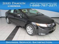 EPA 36 MPG Hwy/28 MPG City! LX trim. CARFAX 1-Owner,