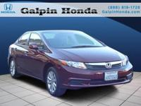 2012 Honda CIVIC 4dr Car EX-L Our Location is: Galpin