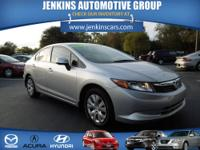 2012 Honda Civic 4dr Car LX Our Location is: Jenkins