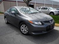 WOW! WHY BUY NEW? 2012 HONDA CIVIC LX COUPE** 1.8L 4
