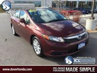 1 Owner Carfax!! 2012 Honda Civic EX, 4D Sedan, 1.8L I4
