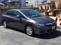 Clean CARFAX. 2012 Honda Civic EX FWD 5-Speed Automatic