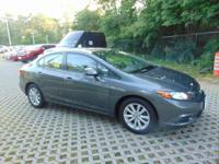 CARFAX One-Owner. Clean CARFAX. Gray 2012 Honda Civic