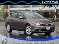 Just in is a beautiful low mileage 2012 Honda four door