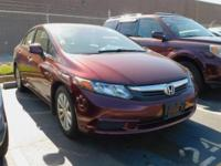 New Price! Clean CARFAX. This 2012 Honda Civic EX-L in