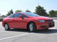 ONE OWNER and CLEAN CARFAX! Civic LX, 2D Coupe, 1.8L I4