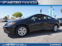 This 2012 Honda Civic Cpe LX is offered to you for sale