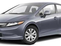2012 Honda Civic LX For Sale.Features:160-Watt AM/FM/CD