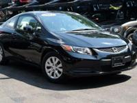 New Price! Certified. 2012 Honda Civic LX Crystal Black