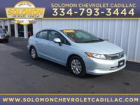 2012 Honda Civic LX in Blue vehicle highlights include,