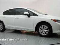 New Price! Certified. 2012 Honda Civic LX 1.8L I4 SOHC