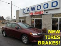 Options:  2012 Honda Civic Lx|Red|New Tires!|New