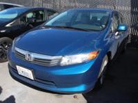 2012 Honda Civic LX 39/28 Highway/City MPG**  Awards: