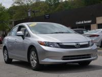 2012 Honda Civic LX Polished Metal Metallic Clean