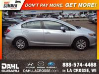Recent Arrival! 2012 Honda Civic LX Clean CARFAX. Good