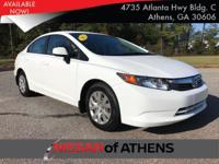 Check out this 2012 Honda Civic Sdn LX. Its Automatic