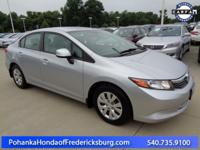 This 2012 Civic has a clean CARFAX and has been well