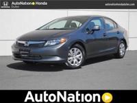 2012 Honda Civic Sdn Our Location is: AutoNation Honda