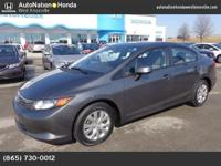 This 2012 Honda Civic Sdn includes a CARFAX Buyback