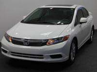 Civic EX, MOONROOF / SUNROOF, and ONE CAR OWNER. White