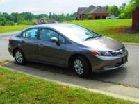 Very clean one owner, non-smoker 2012 Honda Civic LX