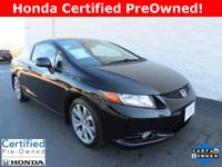 Honda Certified Pre-Owned!! 2012 Civic Si coupe w/ only