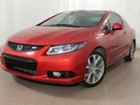 2012 Honda Civic Si with custom leather seats and