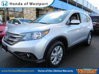 LIFETIME WARRANTY This 2012 Honda CR-V 4WD 5dr EX-L is