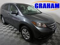 Clean CARFAX. Gray 2012 Honda CR-V EX-L AWD 5-Speed