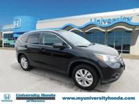 CLEAN CARFAX. BLK 2012 Honda CR-V EX-L FWD 5-Speed