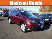 2012 HONDA CR-V EX-L AUTO START CARFAX One-Owner. Clean