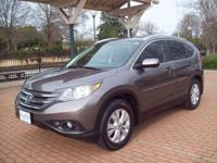 2012 HONDA CR-V EX-L 5-PASSENGER 4-DOOR SUV...A LOCAL