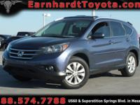 We are happy to offer you this *1-OWNER 2012 HONDA CR-V