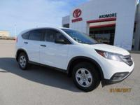 Recent Arrival! 2012 Honda CR-V LX CARFAX One-Owner.