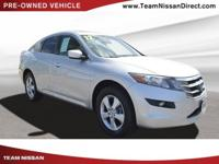 CARFAX One-Owner. Silver 2012 Honda Crosstour EX FWD