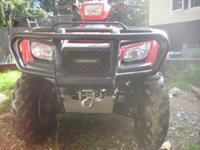 For Sale One 2012 Honda Foreman 4x4, Electric Start,