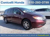 This one owner, 2012 Honda Odyssey EX-L has only 53,061
