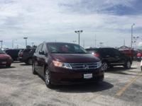 2012 Honda Odyssey EX-L in Dark Cherry Pearl II with