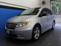 Clean CARFAX. Silver 2012 Honda Odyssey Touring Elite