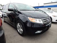 Clean CARFAX. Black 2012 Honda Odyssey FWD 6-Speed