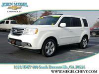 EX-L trim, Taffeta White exterior and Gray interior.