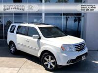 New Price! 4WD. Clean CARFAX. White 2012 Honda Pilot