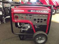 2012 Honda Power Equipment EM4000S Call our Dedicated