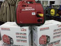 2012 Honda Power Equipment EU2000i NEW EU 2000!! GET A